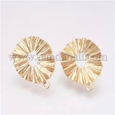 Wholesale Environmental <b>Brass Stud Earring</b> Findings, Long ...