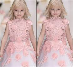 Cute Girls Lace Princess Dresses 2017 3D Floral <b>Applique</b> ...