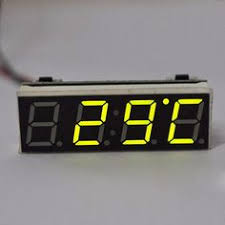 Mini <b>Digital</b> LCD Display Auto <b>Car Electronic</b> Transparent <b>Clock</b> ...