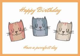 "Say ""Happy Birthday Cat"" With A Custom Designed Card"