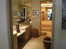 anderson transformed the dark bathroom shown here in many ways but one of the most significant and most universally useful was bringing in light ambient lighting fixtures