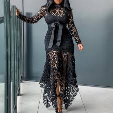<b>Laipelar</b> Vintage Party Sexy Black Lace Long Dress Plus <b>Big Size</b> ...
