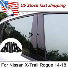 Fit <b>for 2014-18 Nissan X-Trail</b> Rogue Black Pillar Posts Window ...