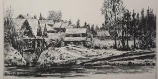 в гатчинском парке офорт художник о а почтенный ссср 1971 год