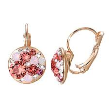 Yoursfs <b>Clip On</b> Earrings with <b>Round</b> Austrian <b>Crystals</b> (18k Rose ...