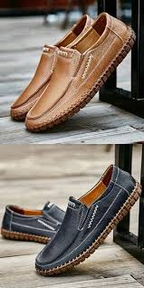 Amazon Handmade Summer <b>Men's Leather Shoes</b> Casual Slip On ...