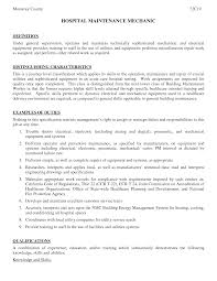 maintenance mechanic resume resume badak industrial maintenance mechanic resume sample