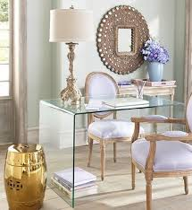 lavender office clear acrylic desk love the girliness of this room bathroomlovely lucite desk chair vintage office clear