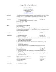 chronological format resume template  seangarrette cochronological
