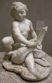baroque sculpture boy dragon 1617 by pietro bernini