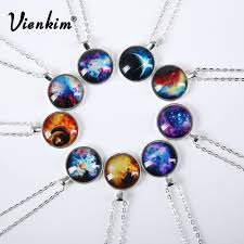 Vienkim <b>2019</b> New Fashion <b>Galaxy</b> Necklaces Nebula Space Glass ...