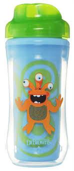 Dr.Browns <b>чашка</b>-<b>термос</b> 300 мл, <b>без носика</b>, 12+ месяцев, зеленый