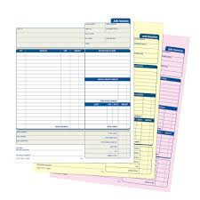 job invoice unit set part carbonless pk