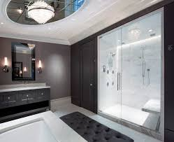 large wall frames bathroom contemporary with floating bench glass shower enclosure wall sconce ceiling wall shower lighting