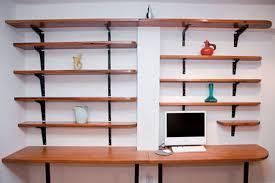 home office shelves mediterranean desc built bookcase desk ideas