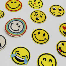 <b>1pcs</b>/<b>lot</b> Cartoon Smiley Laugh To Tear <b>Embroidery</b> Iron On Patches ...