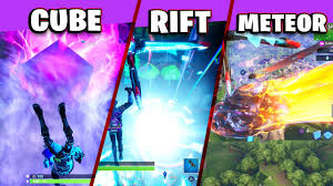 Fortnite | Touch a Giant Glowing Cube, Enter Rift Above Loot Lake ...