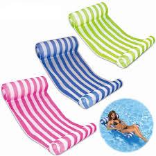 <b>Swimming Pool Floats</b> Air Mattress <b>Inflatable Stripe</b> Sleeping Bed ...