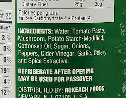 Image result for ingredients in bottled spaghetti sauce