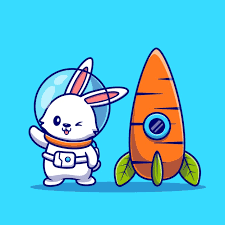 Free Vector | <b>Cute rabbit</b> astronaut with carrot rocket cartoon icon ...
