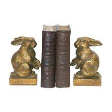 home decor plate x: sterling industries   pair of baby rabbit bookends gold home decor accents bookends