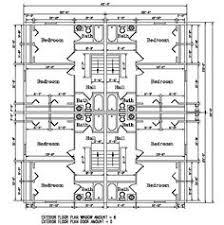 Apartment Plan J   B  plex   Multi Unit Plans   Pinterest    Second level floor plan for the Kodiak Steel Homes Fourplex    Square Feet