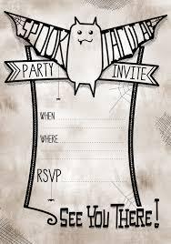 halloween invitation templates printable halloween invitations printable templates