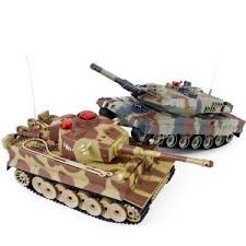 <b>Радиоуправляемый танковый бой Huan</b> Qi Tiger vs Abrams 1:24 ...