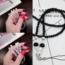 <b>Universal Cell Phone Lanyard</b> Cord Strap Lady Ball Beads Long ...