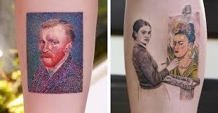 Tattooist <b>Inks</b> Fine <b>Art Tattoo</b> Designs of Famous <b>Paintings</b> in <b>Art</b> ...