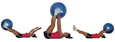 Image result for pictures of stability ball lifts with static knees