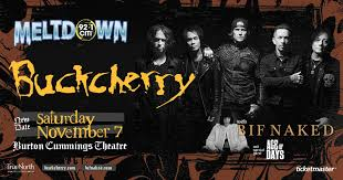 <b>Buckcherry</b> with guests: Bif Naked <b>and</b> Age of Days - 92.1 CITI