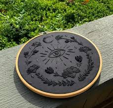 <b>Custom black</b> on <b>black</b> embroidery | Products | Embroidery stitches ...