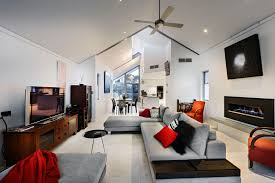luxury living room with red schemes wheel house decorating pictures designer designing paint colors home interior captivating receptionist office interior design implemented