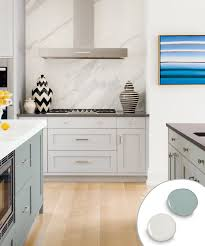 kitchen colors images: kitchen with gray painted kitchen cabinets and green blue painted kitchen island marble countertop and