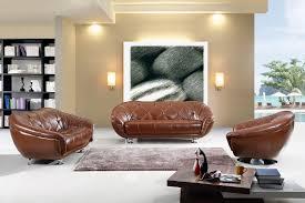 contemporary living room dark brown suede
