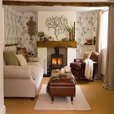 living room furniture spaces inspired: cozy living room design but the metal tree over the mantel is enough to much with