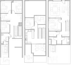 2700 sf office space within 3 story livework loft interior architecture development including floor plan and stair custom kitchen and bathrooms advertising office space