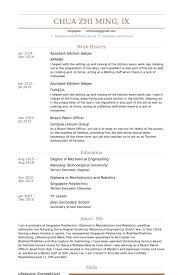 assistant kitchen helper resume samples sample kitchen helper resume