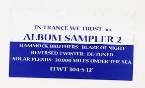 """In <b>Trance We</b> Trust 001 Album Sampler 2 (Vinyl, 12"""", Sampler ..."""