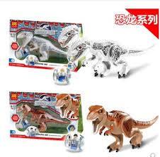 Compatible with LEGO assembled building blocks Jurassic ... - Qoo10