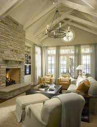 living room carolina design associates: beach house living room with vaulted ceilings hickman design associates