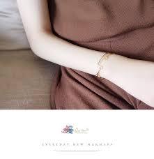 Korean minimalist style hollow triangular <b>geometry bracelet bracelet</b> ...
