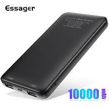 <b>Essager</b> Slim <b>Power</b> Bank 10000mah Dual USB Powerbank For ...