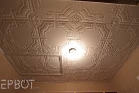 Ceiling Tiles For Kitchen Epbot Diy Faux Tin Tile Ceiling