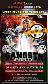 60 best flyer templates psd css author psd flyer template gangsta party
