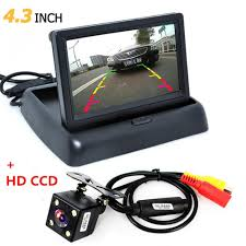 4.3 Inch Foldable Color TFT LCD <b>Mini Car Rear View</b> Monitor with ...