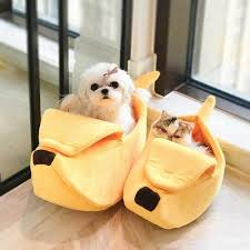 Banana Shape Pet Bed Warm Cozy Puppy <b>Cushion Cat House</b> Soft ...