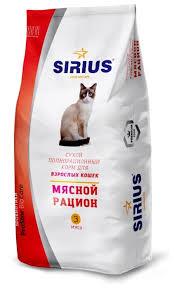 <b>Корм</b> для кошек <b>Sirius Мясной</b> рацион для взрослых кошек 10 кг ...