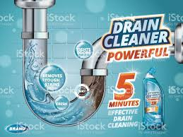 drain cleaner ads stock vector art 642075510 istock drain cleaner ads royalty stock vector art